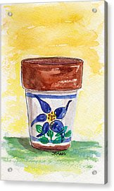 Columbine Container Acrylic Print by Julie Maas