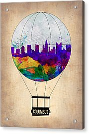 Columbus Air Balloon Acrylic Print by Naxart Studio