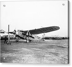 Columbus Airplane Acrylic Print by Library Of Congress