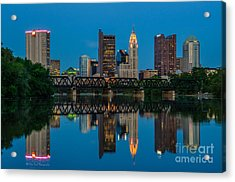 Columbus Ohio Night Skyline Photo Acrylic Print