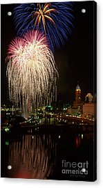 Columbus Red White And Boom Acrylic Print