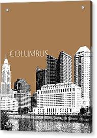 Columbus Skyline - Brown Acrylic Print by DB Artist