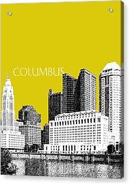 Columbus Skyline - Mustard Acrylic Print by DB Artist