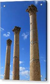 Columns At The Ancient City Of Jerash In Jordan Acrylic Print