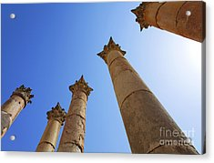 Columns At The Temple Of Artemis At Jerash Jordan Acrylic Print by Robert Preston
