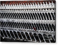 Columns Leaning Acrylic Print by Jacqueline M Lewis