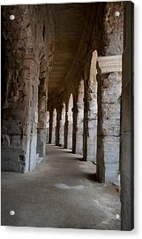 Columns Of Amphitheater, Arles Acrylic Print by Panoramic Images