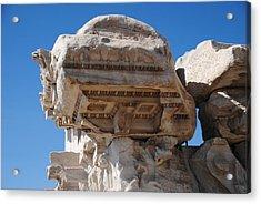 Columns - Pergamum Acrylic Print by Jacqueline M Lewis