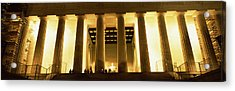 Columns Surrounding A Memorial, Lincoln Acrylic Print by Panoramic Images