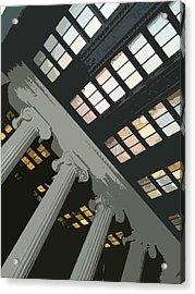 Columns Acrylic Print by Julio Lopez
