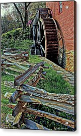 Colvin Run Mill Acrylic Print by Suzanne Stout