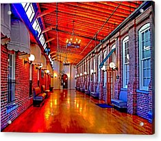 Interior  The Galleria Red Bank    Acrylic Print by Rick Todaro