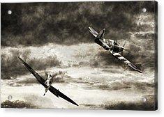 Combat Spitfires Acrylic Print