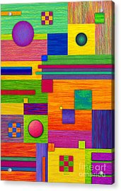 Combination 2 Acrylic Print by David K Small
