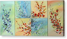 Acrylic Print featuring the painting Combo Flowers by Dorothy Maier