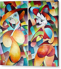 Acrylic Print featuring the painting  Man And Woman by Dorothy Maier