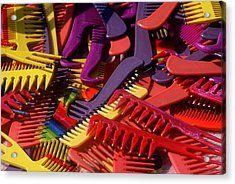 Acrylic Print featuring the photograph Combs by Rodney Lee Williams