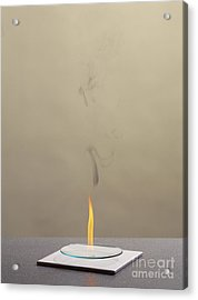 Combustion Of An Alkene Acrylic Print by Martyn F. Chillmaid