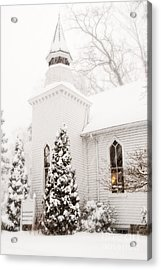 Acrylic Print featuring the photograph White Christmas In Maryland Usa by Vizual Studio