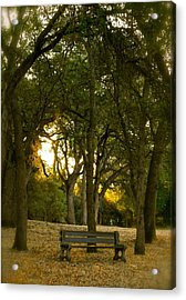 Come Sit Awhile Acrylic Print by Michele Myers