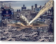Acrylic Print featuring the photograph Comerica Park Asteroid by Nicholas  Grunas