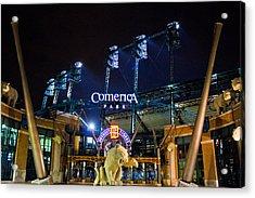 Comerica Park At Night  Acrylic Print by John McGraw