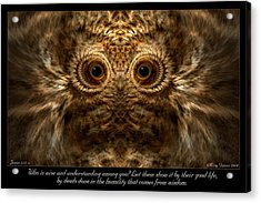 Comes From Wisdom Acrylic Print