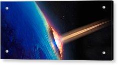 Comet Crashing Into Earth Acrylic Print