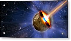 Comet Hitting Earth Acrylic Print