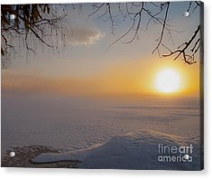 Acrylic Print featuring the photograph Comfortable Winter View by Rose-Maries Pictures