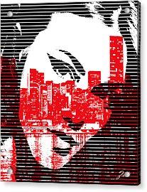 Comics Art Acrylic Print by Ze  Di