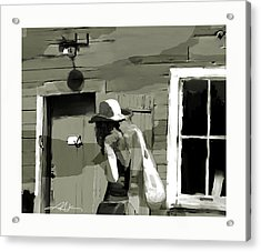 Acrylic Print featuring the painting Coming Home by Bob Salo