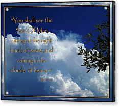 Coming In The Clouds Acrylic Print by Glenn McCarthy Art and Photography
