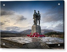 Commando Memorial At Spean Bridge Acrylic Print