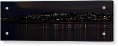 Commencement Bay Light Trail Acrylic Print