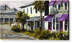 Commerce And Avenue D Acrylic Print by Susan Richardson