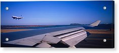 Commercial Airplane Taking Acrylic Print by Panoramic Images