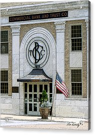 Commercial Bank And Trust Acrylic Print