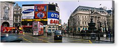 Commercial Signs On Buildings Acrylic Print by Panoramic Images