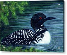 Common Loon Acrylic Print by Sandra Estes