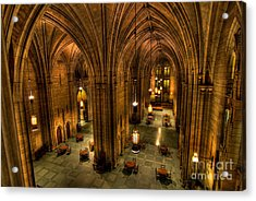 Commons Room Cathedral Of Learning University Of Pittsburgh Acrylic Print by Amy Cicconi