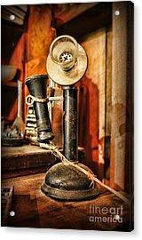 Communication - Candlestick Phone Acrylic Print by Paul Ward