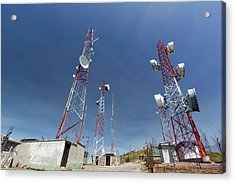Communications Towers Acrylic Print by Dr Morley Read