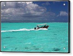 Commute Of Bora Bora  Acrylic Print by Nick Difi