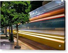 Dallas Commuter Train 052214 Acrylic Print