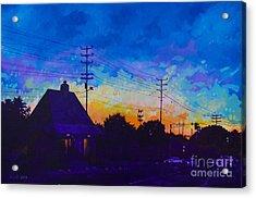 Commuter's Sunset Acrylic Print by Michael Ciccotello
