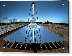 Compact Linear Fresnel Reflector Acrylic Print