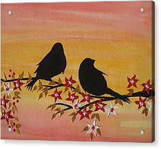Companionship Acrylic Print by Cathy Jacobs