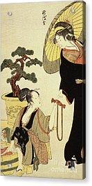 Comparison Of Celebrated Beauties And The Loyal League Acrylic Print by Kitagawa Utamaro