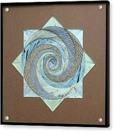 Acrylic Print featuring the mixed media Compass Headings by Ron Davidson